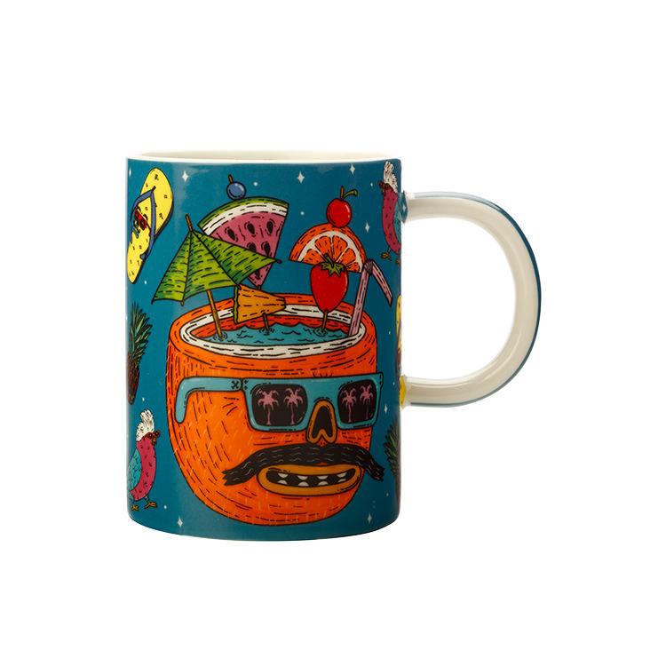 Maxwell & Williams Mulga the Artist Mug 450ml Coconut
