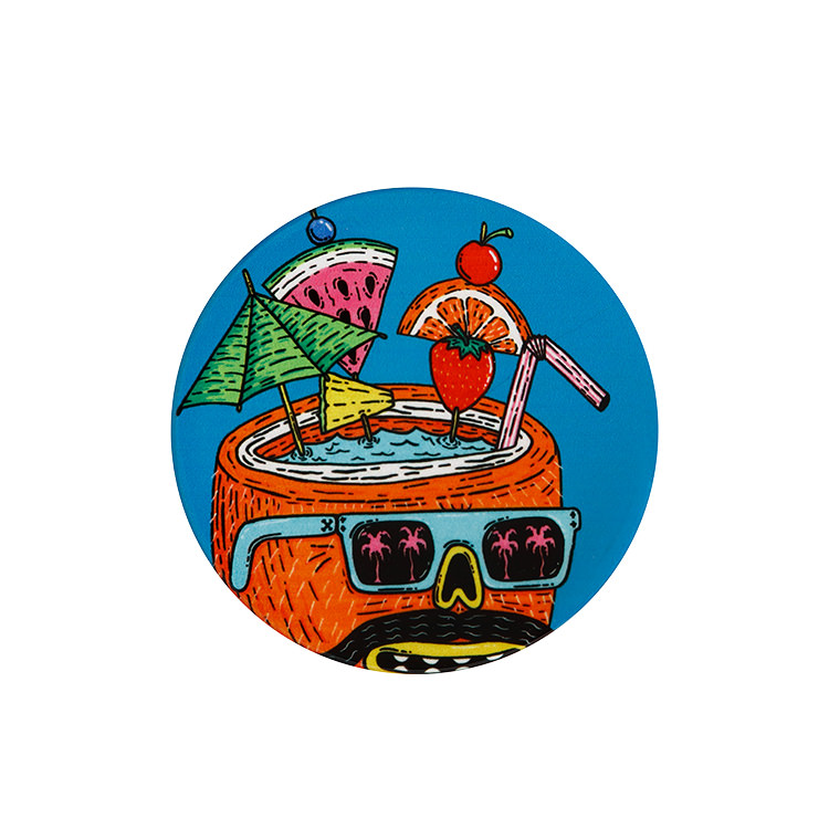 Maxwell & Williams Mulga the Artist Round Coaster 10.5cm Coconut