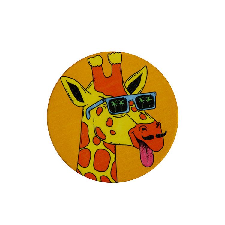Maxwell & Williams Mulga the Artist Round Coaster 10.5cm Giraffe