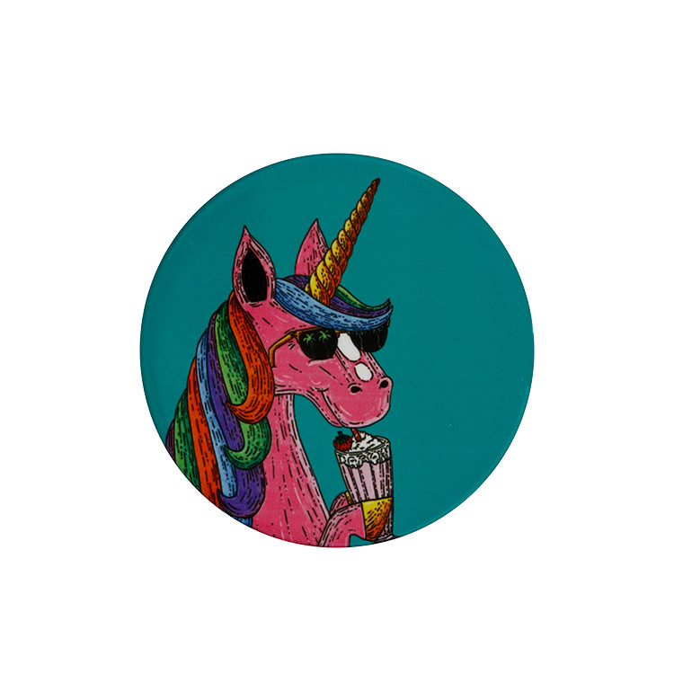 Maxwell & Williams Mulga the Artist Round Coaster 10.5cm Unicorn