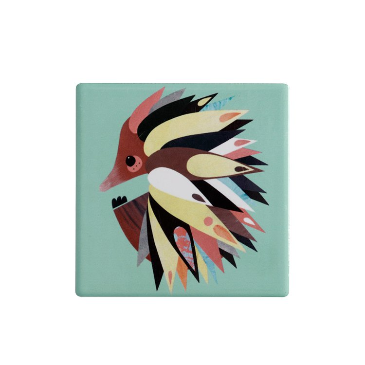 Maxwell & Williams Pete Cromer Ceramic Square Tile Coaster Echidna