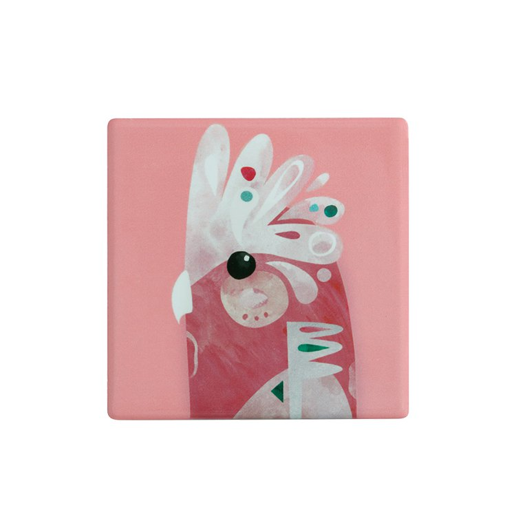 Maxwell & Williams Pete Cromer Ceramic Square Tile Coaster Galah