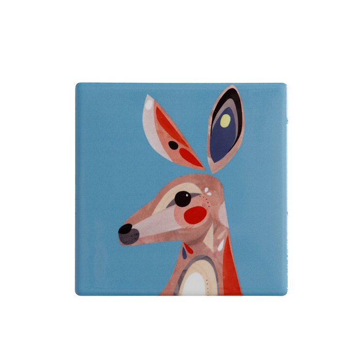 Maxwell & Williams Pete Cromer Ceramic Square Tile Coaster Kangaroo