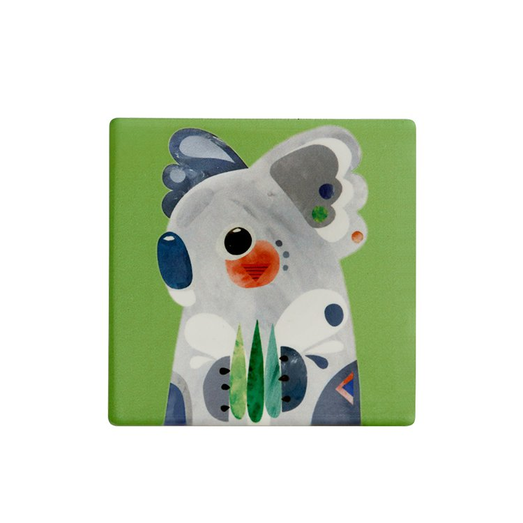 Maxwell & Williams Pete Cromer Ceramic Square Tile Coaster Koala