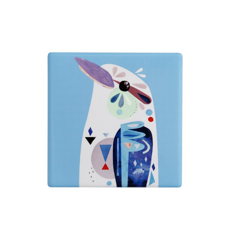 Maxwell & Williams Pete Cromer Ceramic Square Tile Coaster Kookaburra