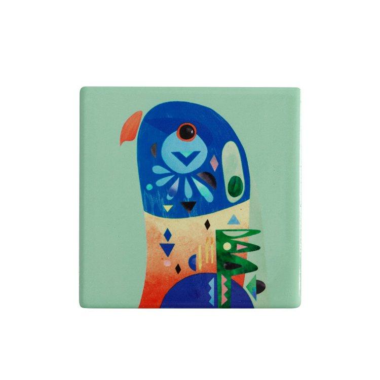Maxwell & Williams Pete Cromer Ceramic Square Tile Coaster Lorikeet