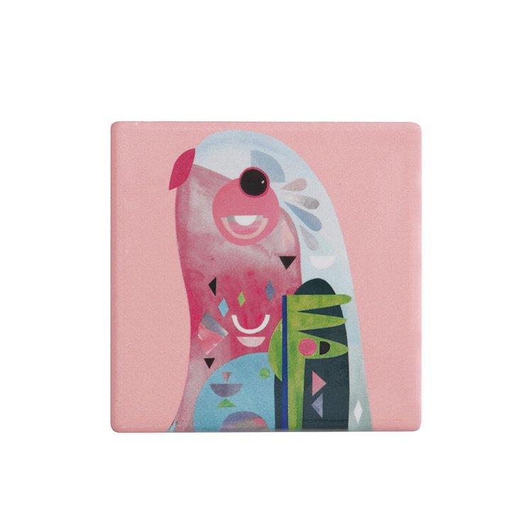 Maxwell & Williams Pete Cromer Ceramic Square Tile Coaster Parrot
