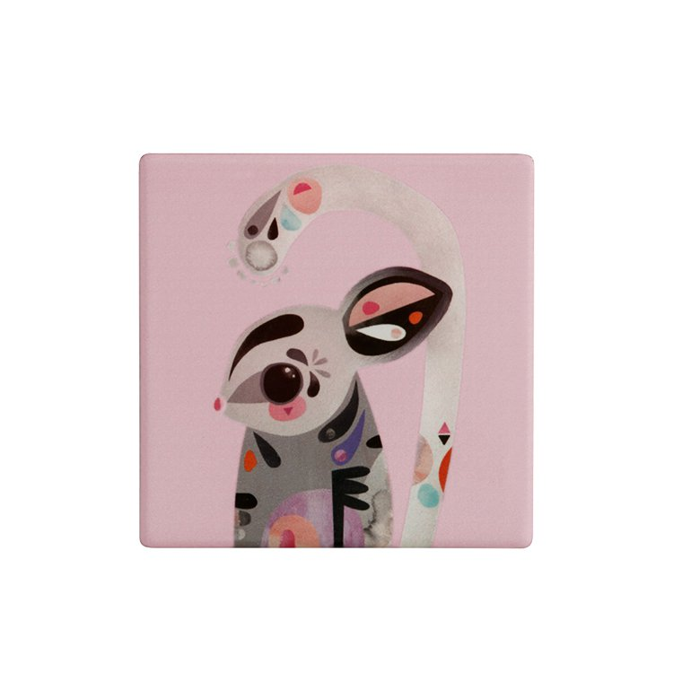 Maxwell & Williams Pete Cromer Ceramic Square Tile Coaster Sugar Glider