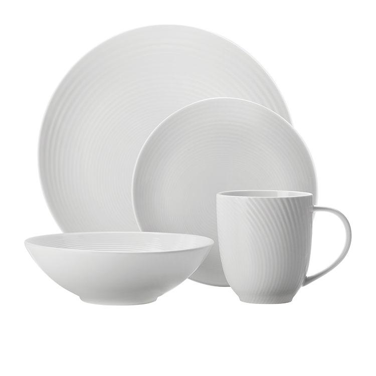 Maxwell & Williams Swirl Dinner Set 16pc White