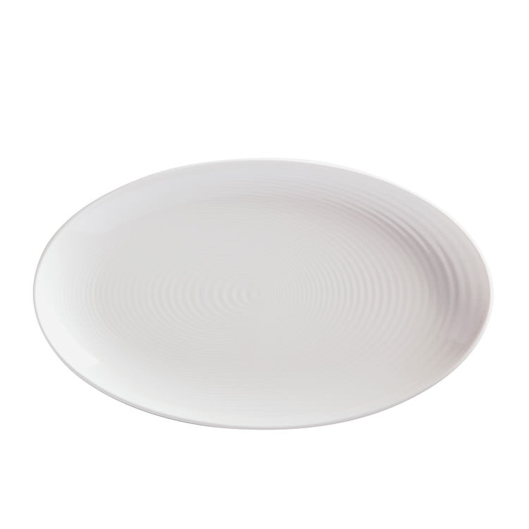 Maxwell & Williams Swirl Oval Platter 37x22cm White
