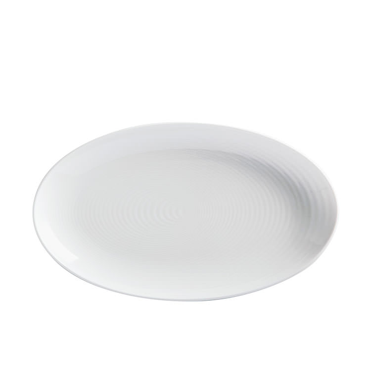 Maxwell & Williams Swirl Oval Platter White 32x18cm