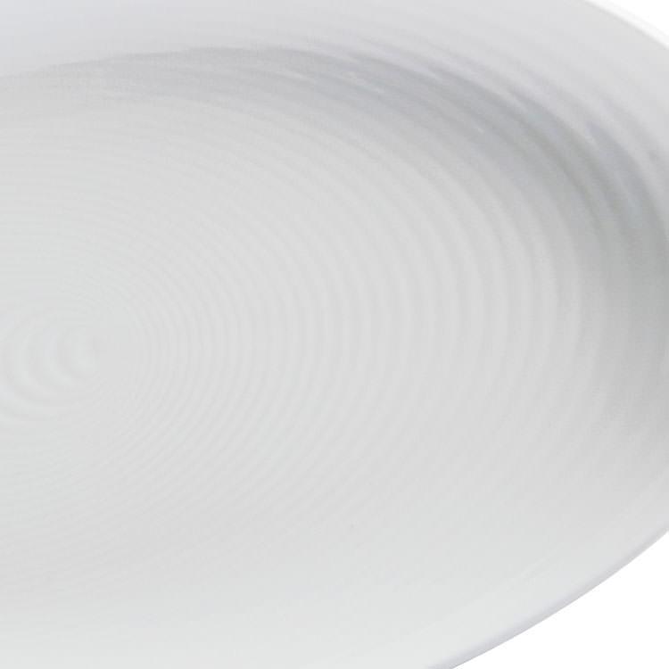 Maxwell & Williams Swirl Oval Platter White 32x18cm