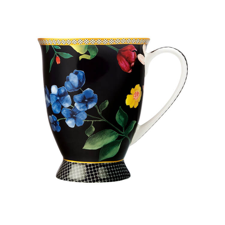 Maxwell & Williams Teas & C's Contessa Footed Mug 300ml Black