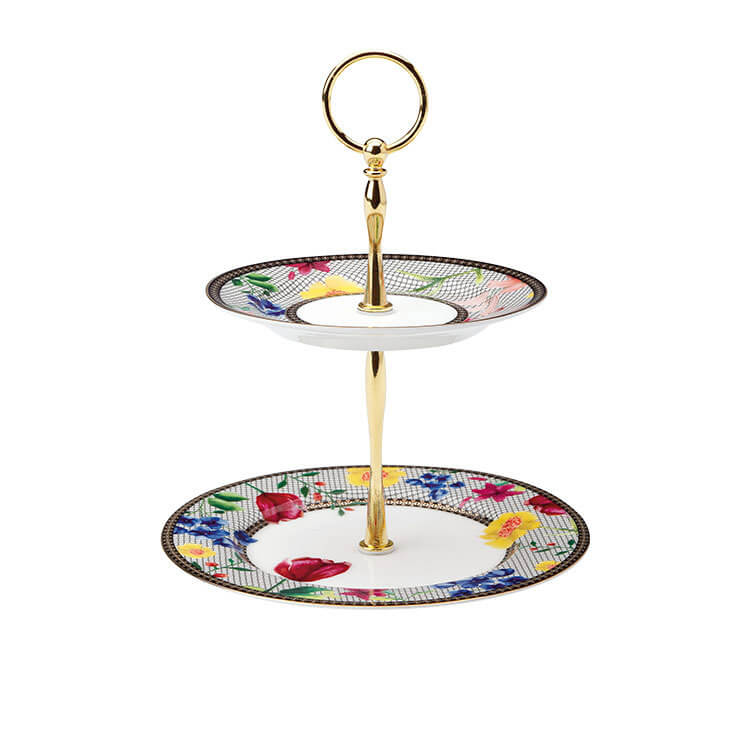 Maxwell & Williams Teas & C's Contessa 2-Tiered Cake Stand White