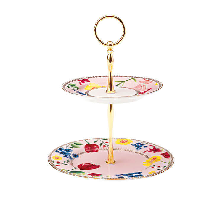 Maxwell & Williams Teas & C's Contessa 2-Tiered Cake Stand Rose