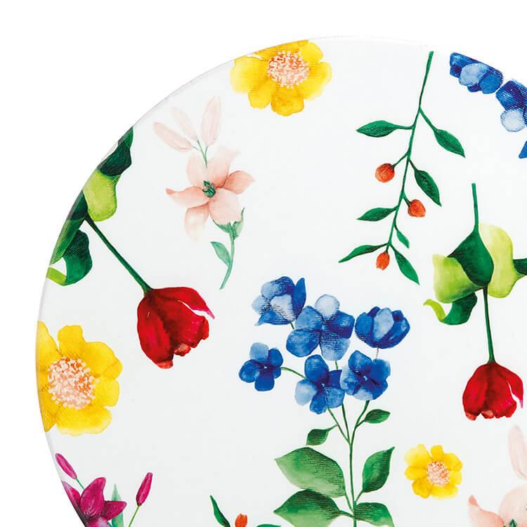 Maxwell & Williams Teas & C's Contessa Ceramic Round Trivet 20cm White
