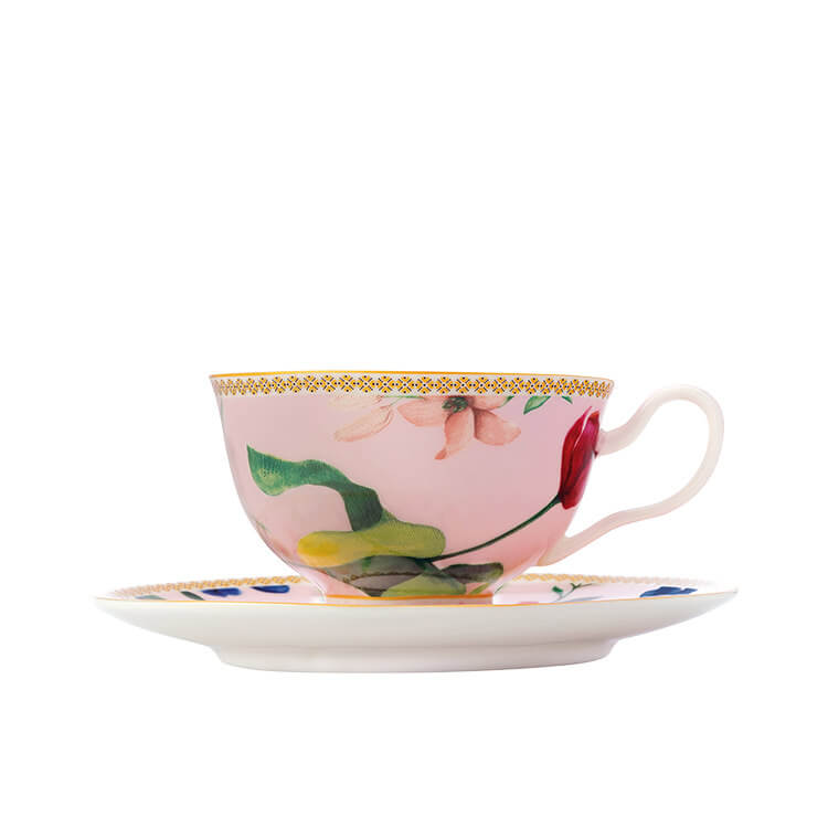 Maxwell & Williams Teas & C's Contessa Footed Cup & Saucer 200ml Rose