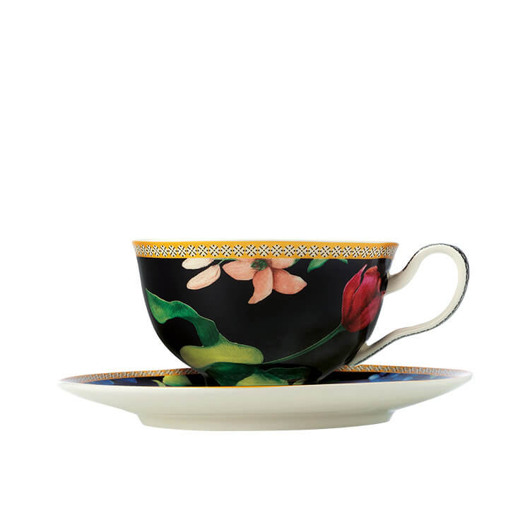 Maxwell & Williams Teas & C's Contessa Footed Cup & Saucer 200ml Black