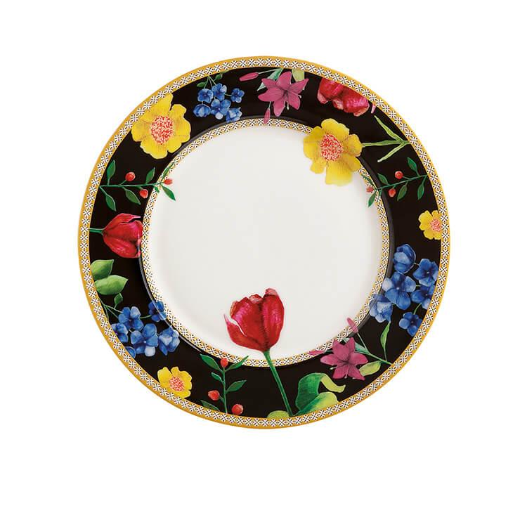 Maxwell & Williams Teas & C's Contessa Rim Plate 19.5cm Black