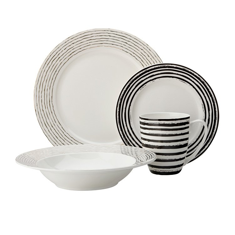 Maxwell u0026 Williams Tresor Rim Dinner Set 16pc Stripe $109.00  sc 1 st  Kitchen Warehouse & Maxwell u0026 Williams Tresor Rim Dinner Set 16pc Stripe - Fast Shipping