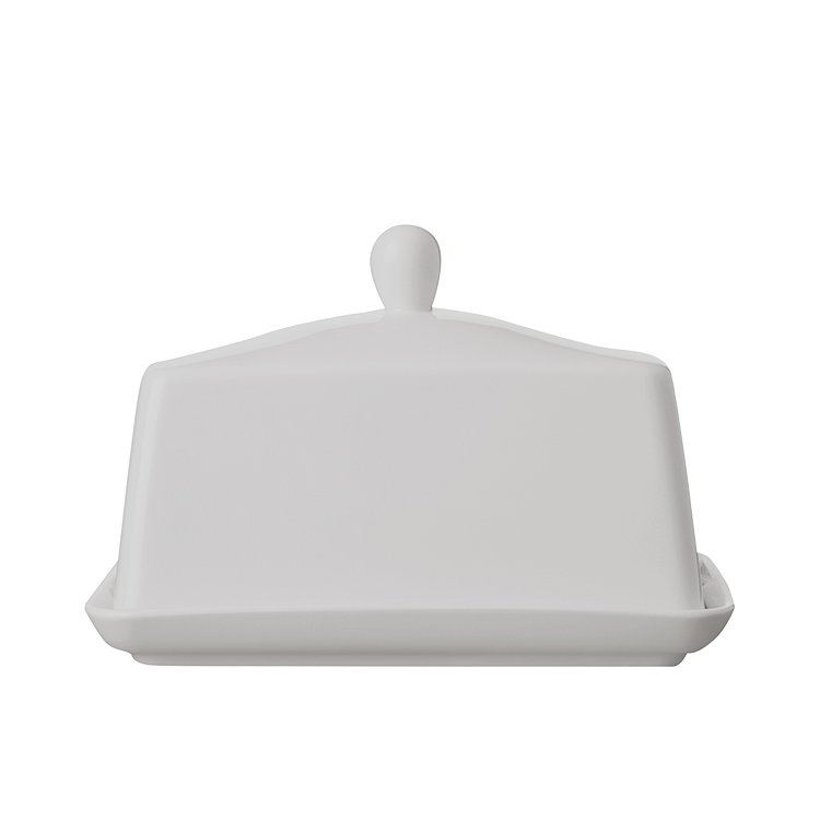 Maxwell & Williams White Basics Butter Dish 18cm