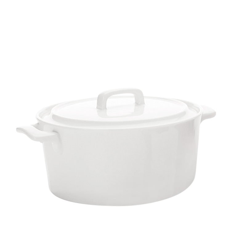 Maxwell & Williams White Basics Chef Du Monde Round Casserole 1.1L