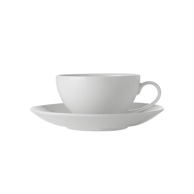 Maxwell & Williams White Basics Coupe Cup & Saucer 250ml