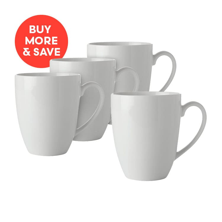 Maxwell & Williams White Basics Coupe Mug 450ml (4pcs)