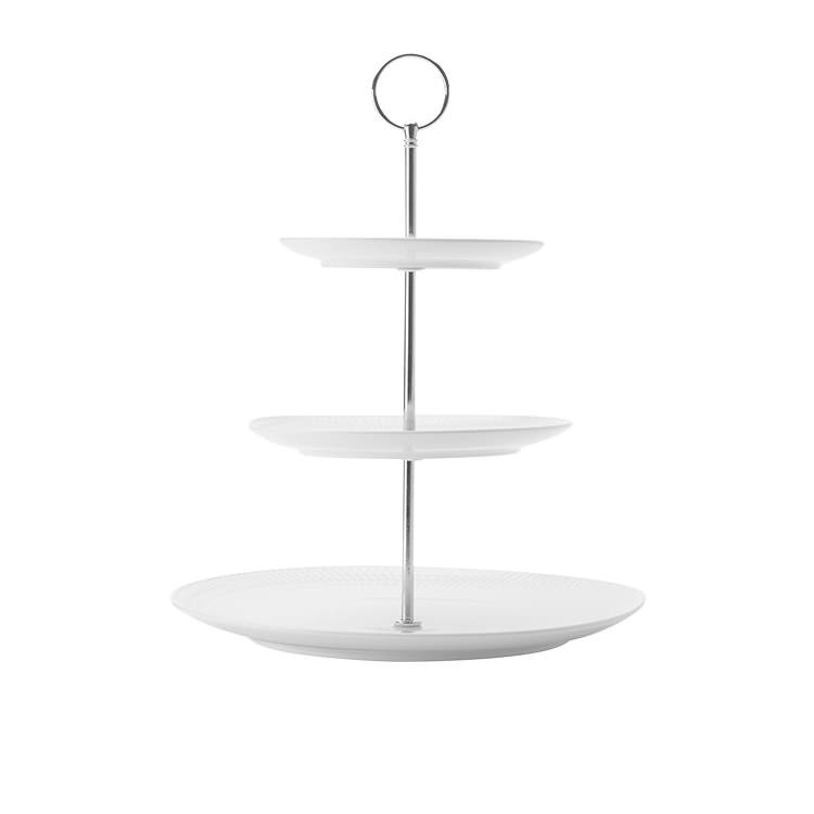 Maxwell & Williams White Basics Diamonds 3 Tier Cake Stand