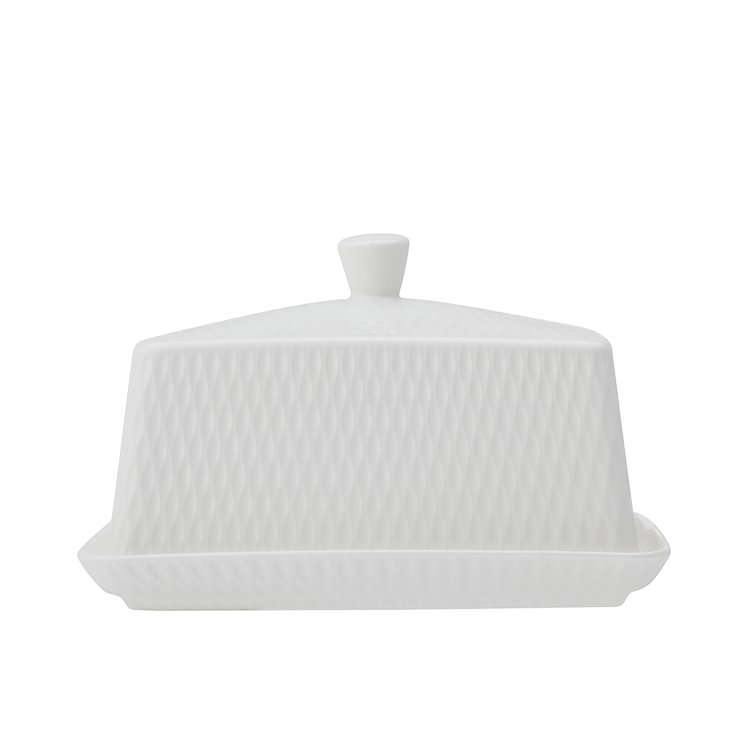 Maxwell & Williams White Basics Diamonds Butter Dish