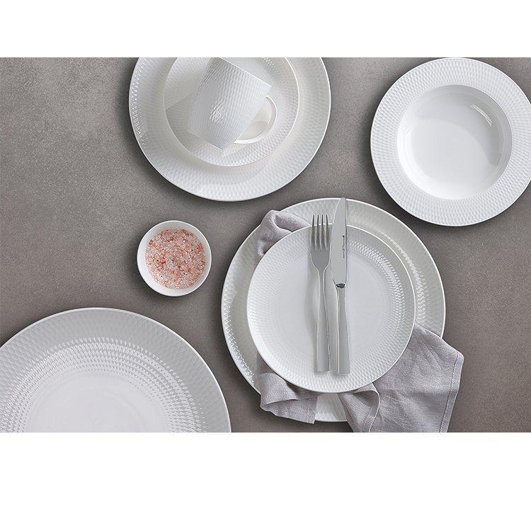 Maxwell & Williams White Basics Diamonds Dinner Set 12pc