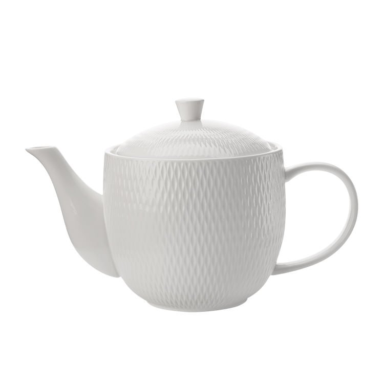 Maxwell & Williams White Basics Diamonds Teapot 800ml