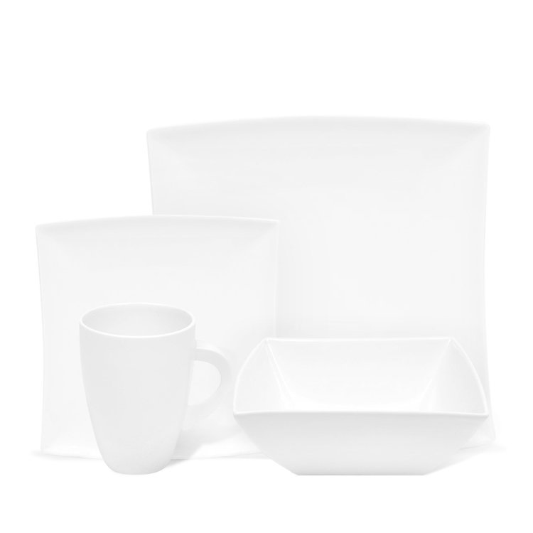 Maxwell & Williams White Basics West Meets East Dinner Set 16pc