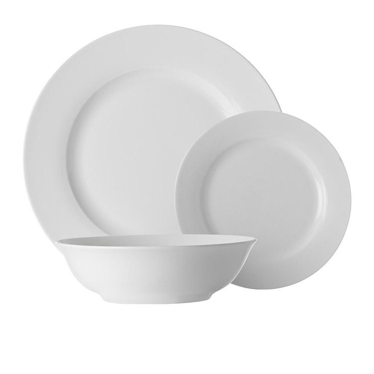 Maxwell & Williams White Basics European Rim Dinner Set 18pc
