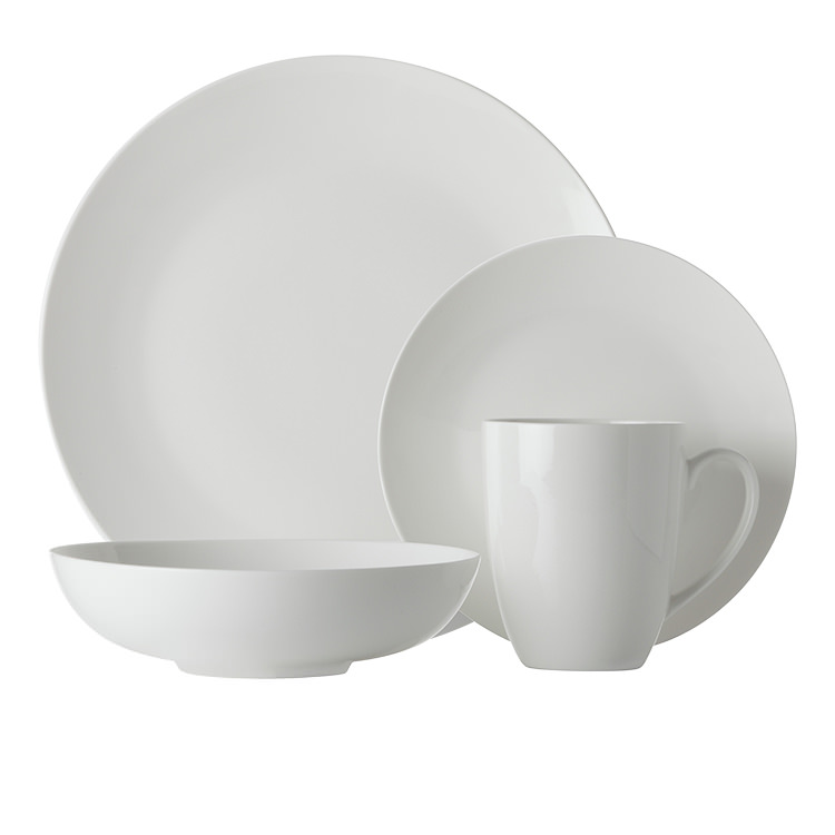 Maxwell & Williams White Basics Fitzrovia Coupe Dinner Set 16pc