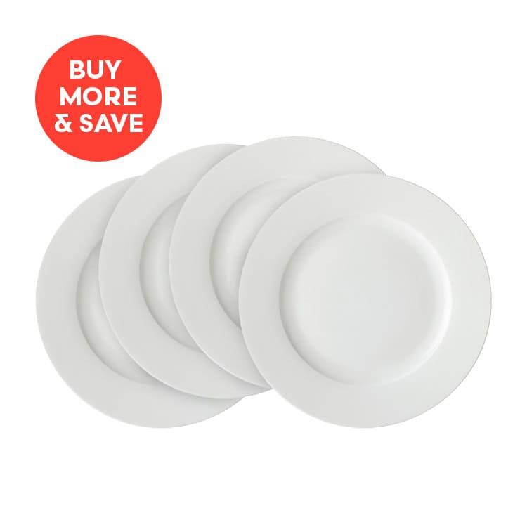 Maxwell & Williams White Basics Rim Dinner Plate 27cm (4pcs)