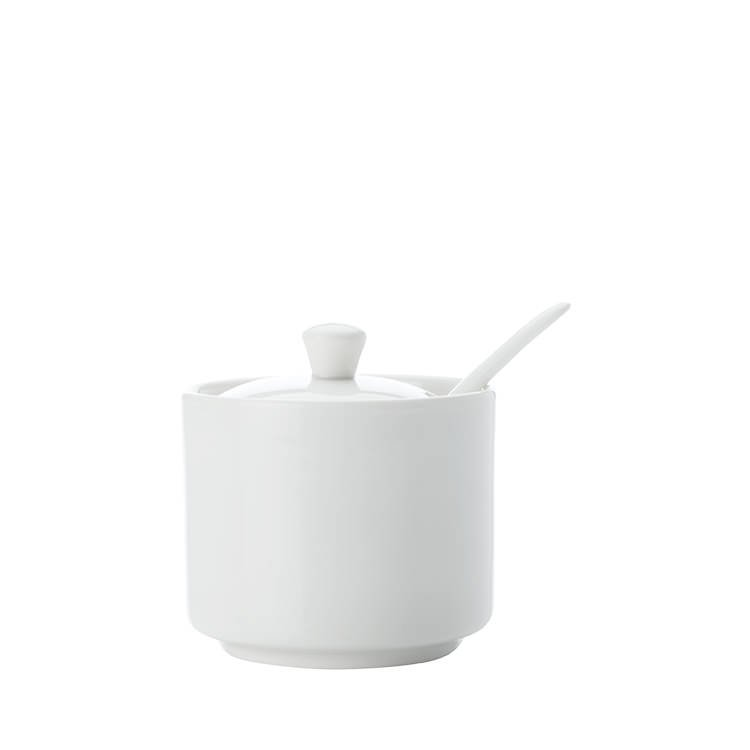 Maxwell & Williams White Basics Straight Sugar Jar with Spoon