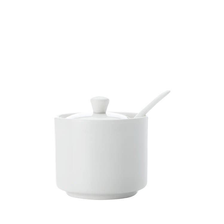 Maxwell & Williams White Basics Straight Sugar Jar with Spoon