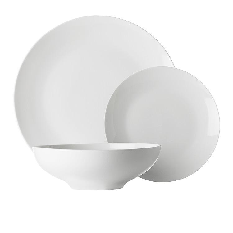 Maxwell & Williams White Basics Tribeca 12pc Coupe Dinner Set