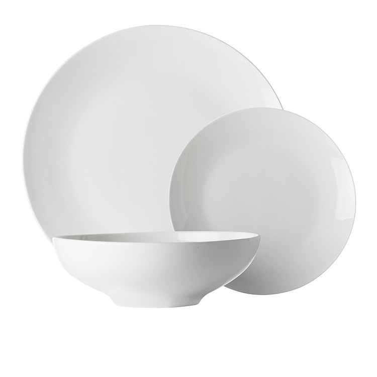 Maxwell & Williams White Basics Tribeca Coupe Dinner Set 18pc