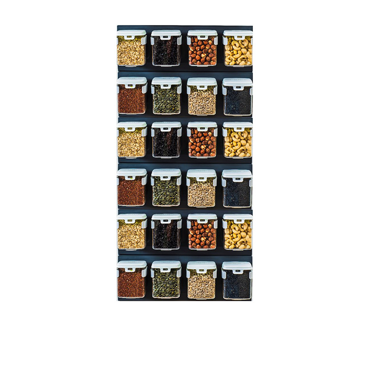 Mobin Series Wall Mounted Organiser 1 Row of 4 250ml
