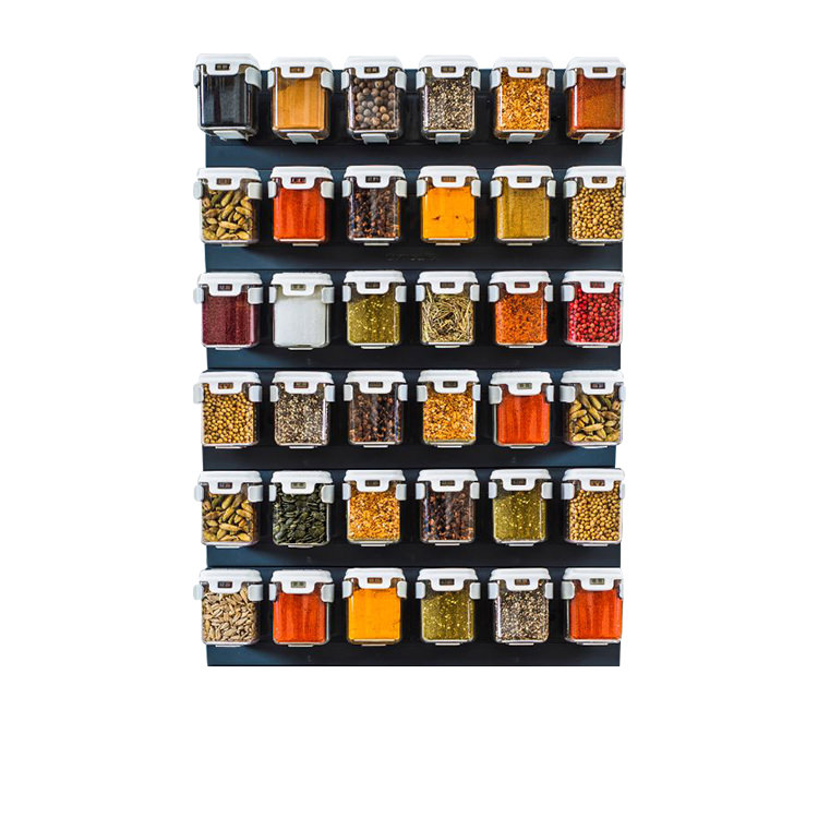 Mobin Series Wall Mounted Organiser 6 Rows of 6 125ml