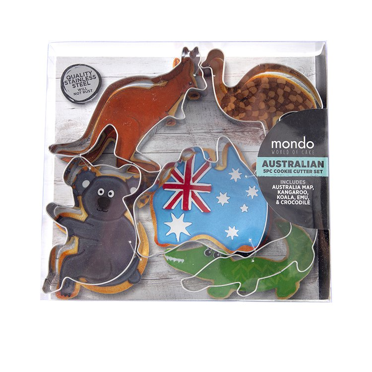 Mondo Australian Cookie Cutter Set 5pc