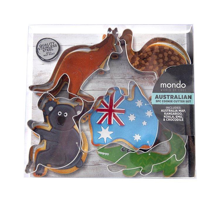 Mondo Australian Cookie Cutter Set 5pc