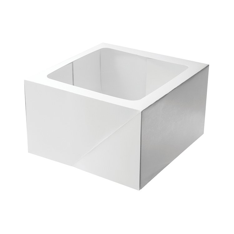 Mondo Tall Square Cake Box 25x25x15cm White