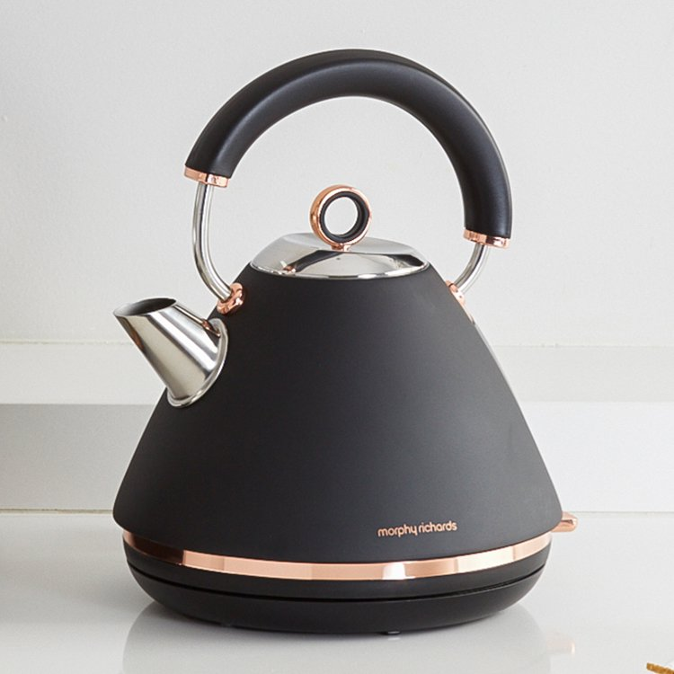 Morphy Richards Accents Rose Gold Kettle Black