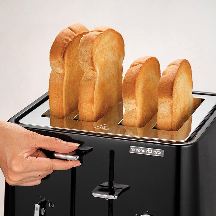 Morphy Richards Aspect Scandi 4 Slice Toaster Black