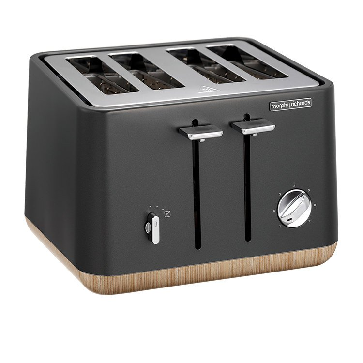 Morphy Richards Aspect Scandi 4 Slice Toaster Titanium