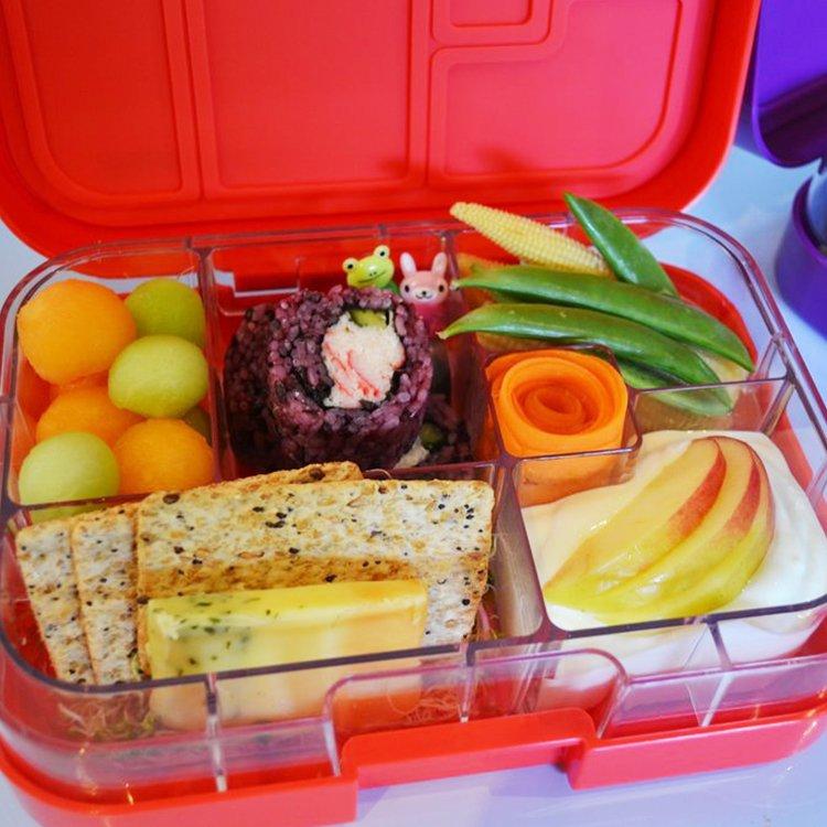 Munchbox Maxi 6 Bento Box Red Lava image #3