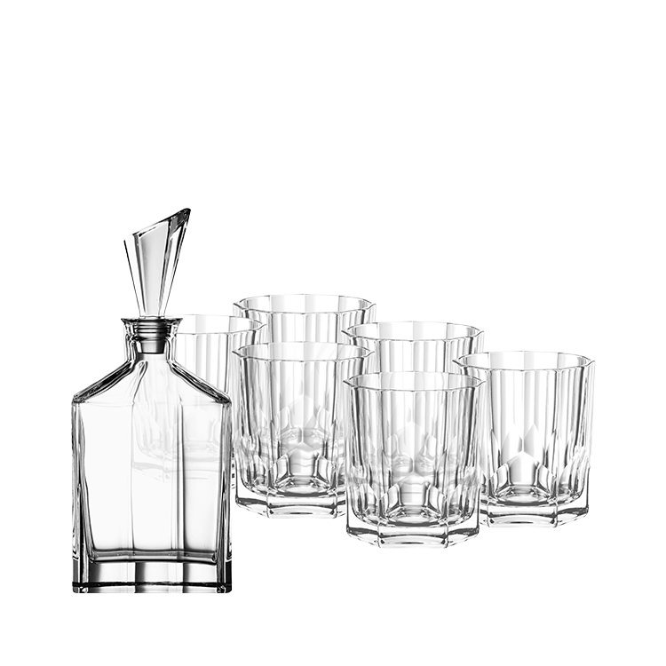 Nachtmann Aspen Whiskey Glass 7pc Set